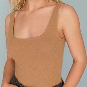 Reformation Stratus Tank Butterscotch XL Top